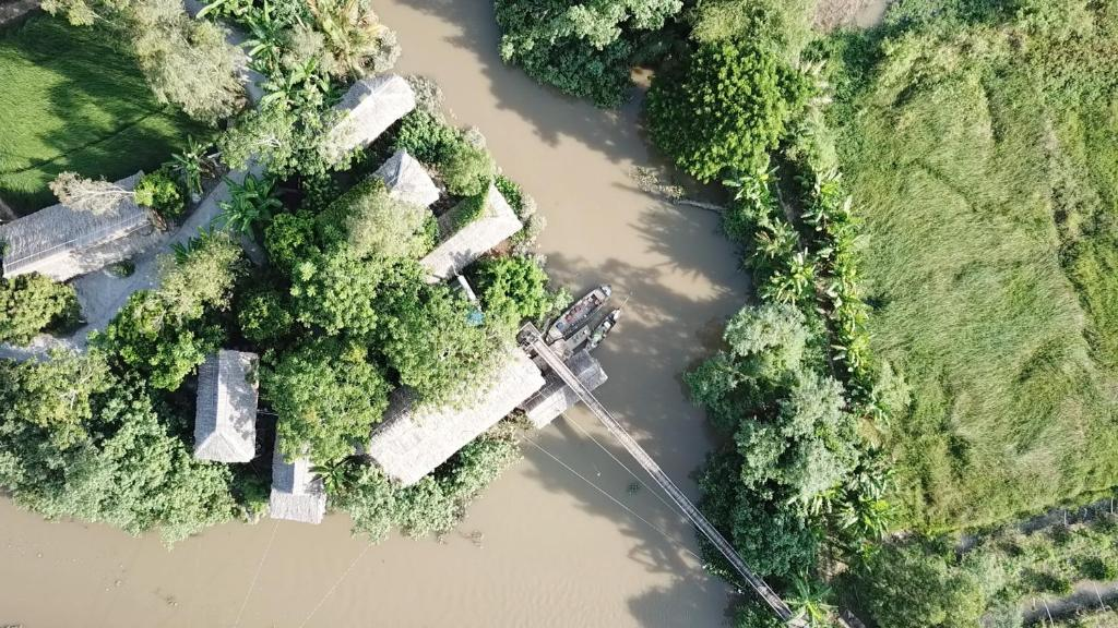 A bird's-eye view of Nguyen Shack - Mekong Can Tho
