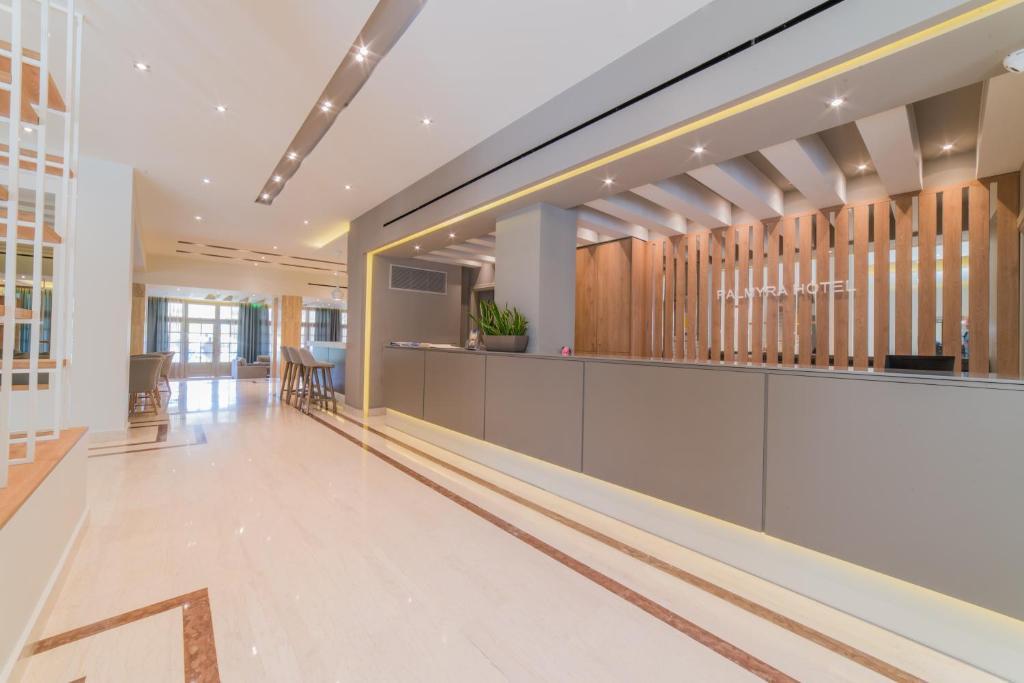 The lobby or reception area at Hotel Palmyra