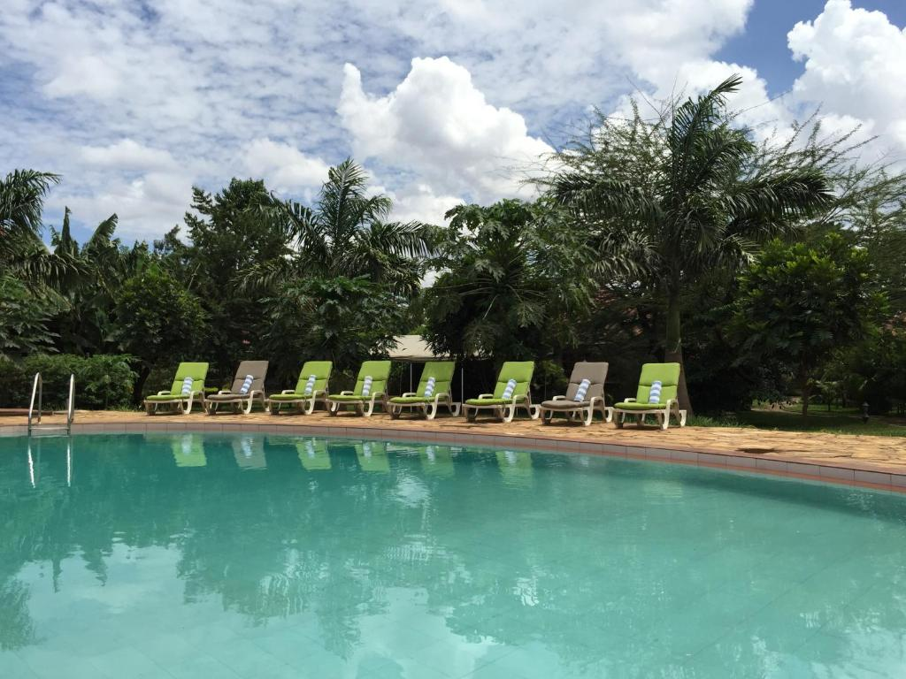 The swimming pool at or near Arusha Planet Lodge