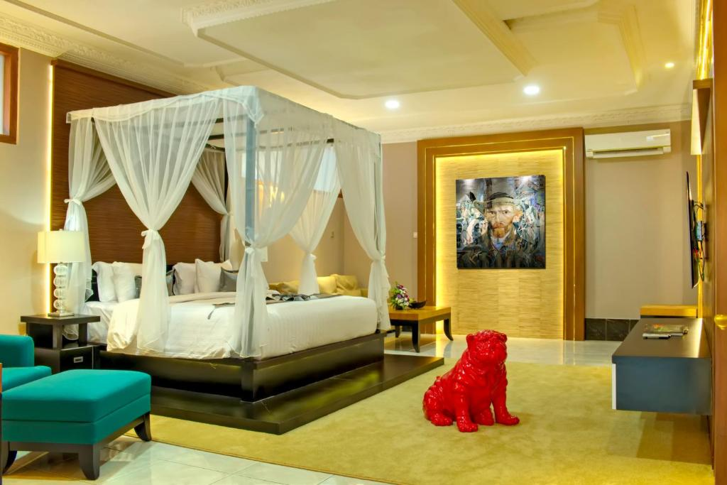 Area tempat duduk di Raintree Boutique Villa & Gallery