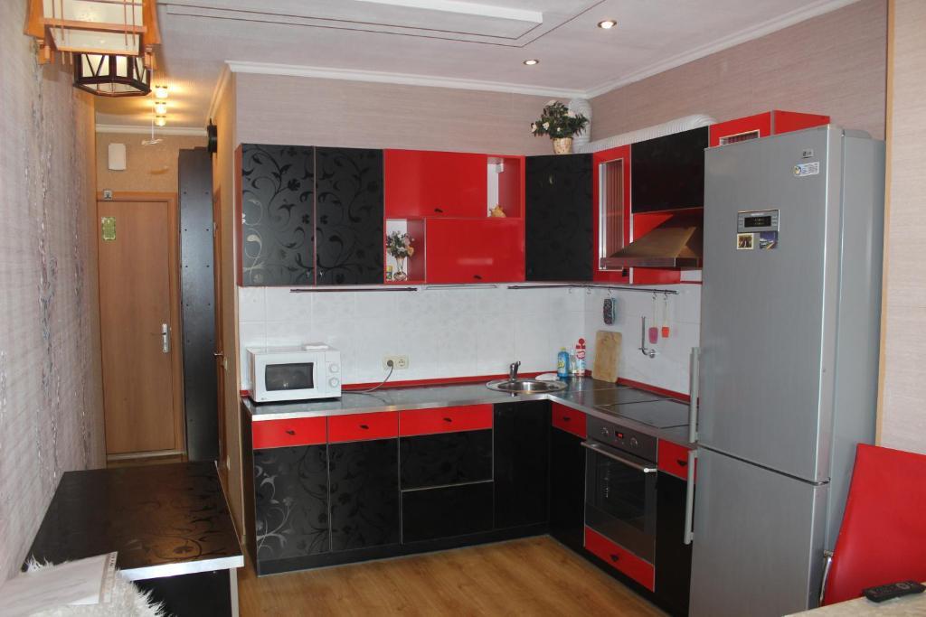 Кухня или мини-кухня в Квартира в центре Обводный 9к3
