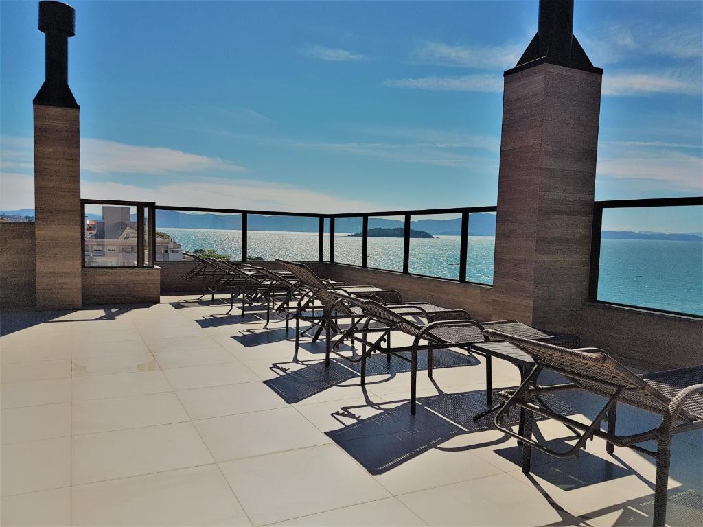Un balcón o terraza de Fragata Apart Hotel