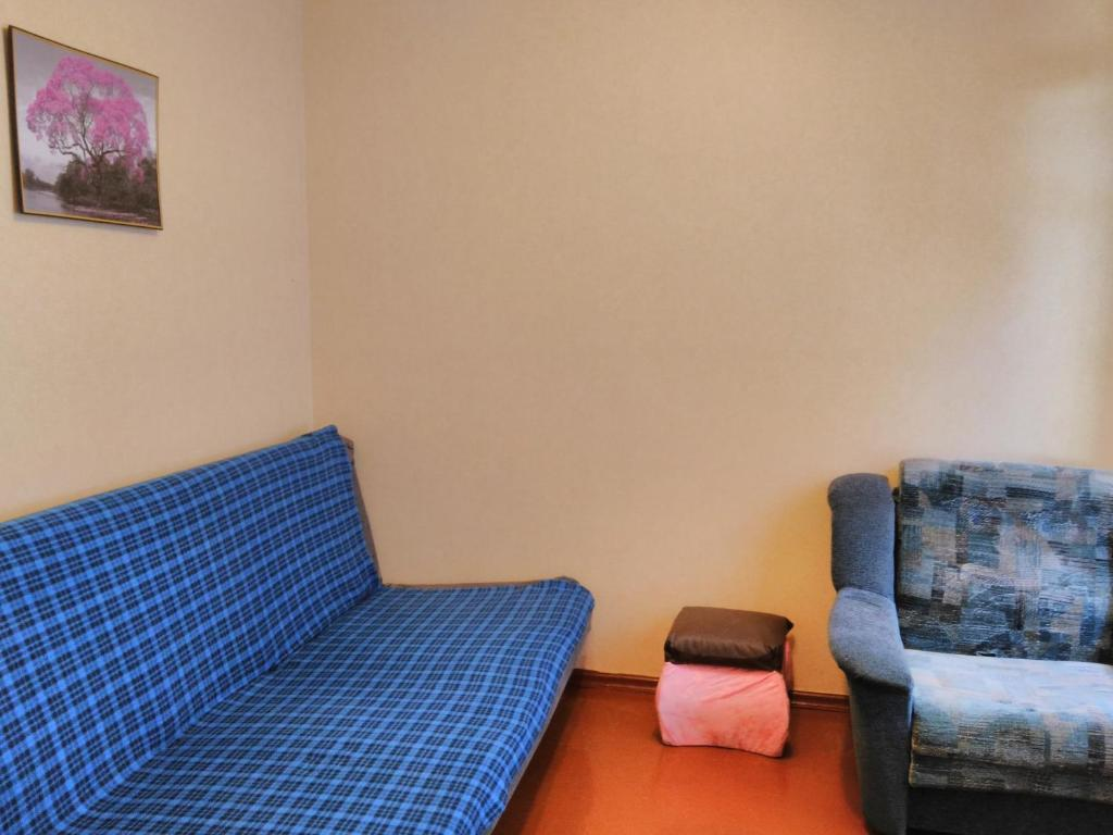 A seating area at Hostel Uyutny