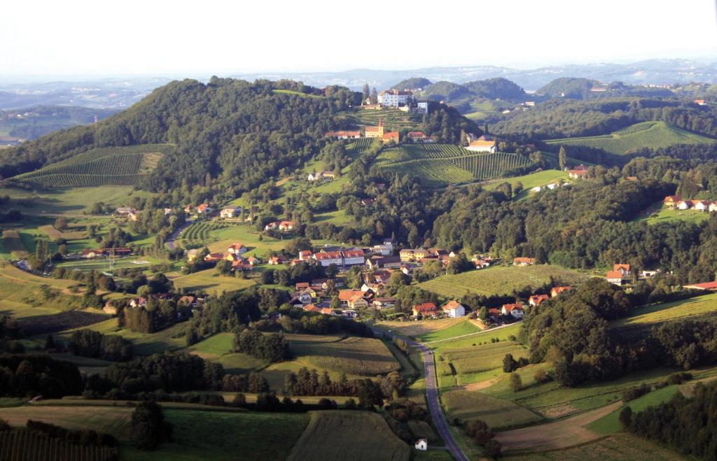 A bird's-eye view of Schloss Kapfenstein
