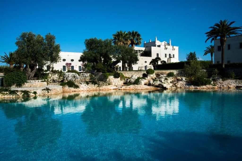 The swimming pool at or near Masseria San Domenico