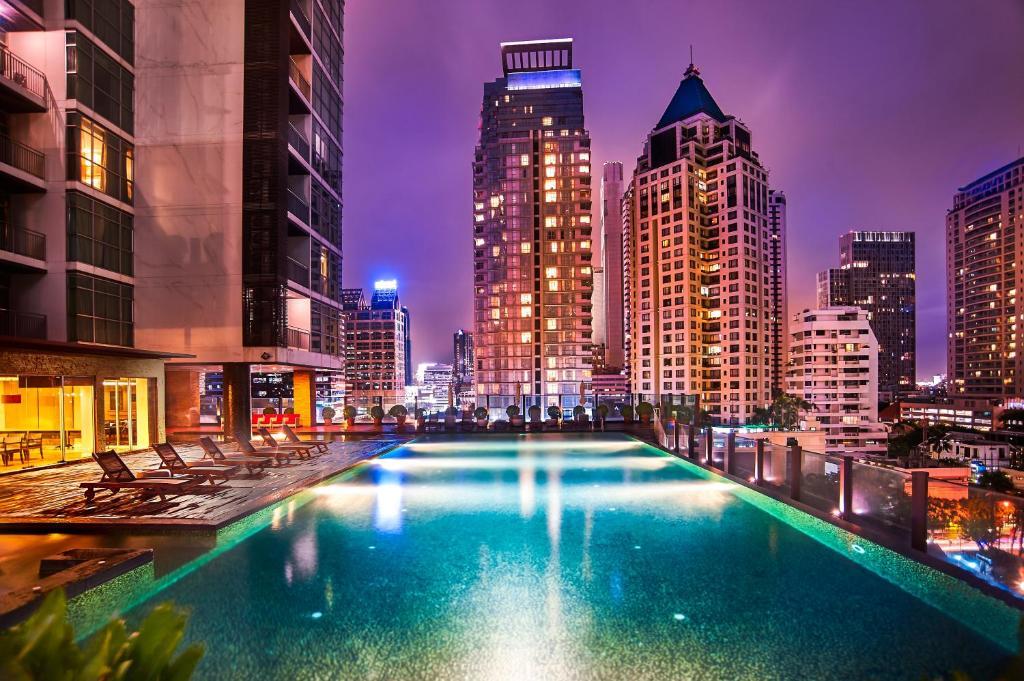The swimming pool at or near Urbana Sathorn, Bangkok