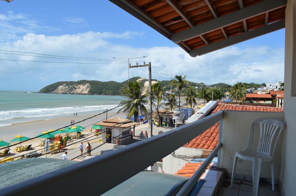 A balcony or terrace at Hotel Pousada Sol