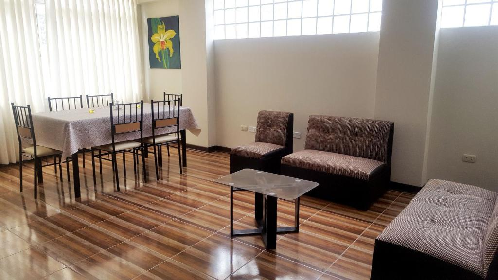 Zona de estar de Cozy aparment in Cusco