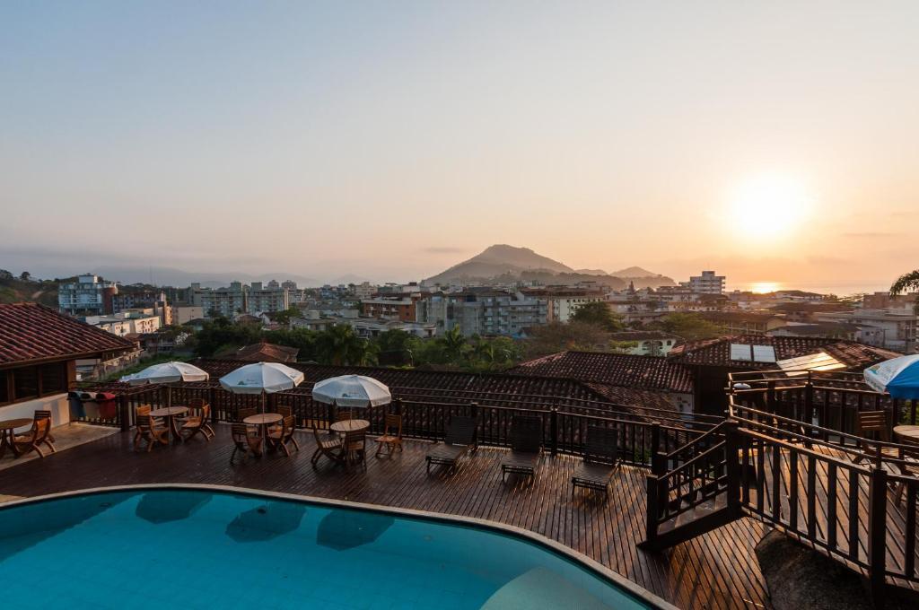 Uma vista da piscina em Hotel Coquille ou nos arredores