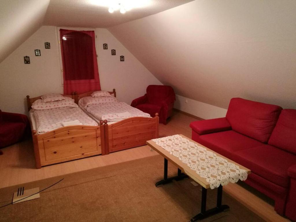 Posteľ alebo postele v izbe v ubytovaní Mikula Porta
