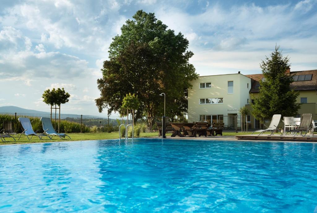 The swimming pool at or near Gasthof Martinhof