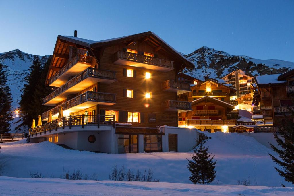 Mountain Lodge during the winter