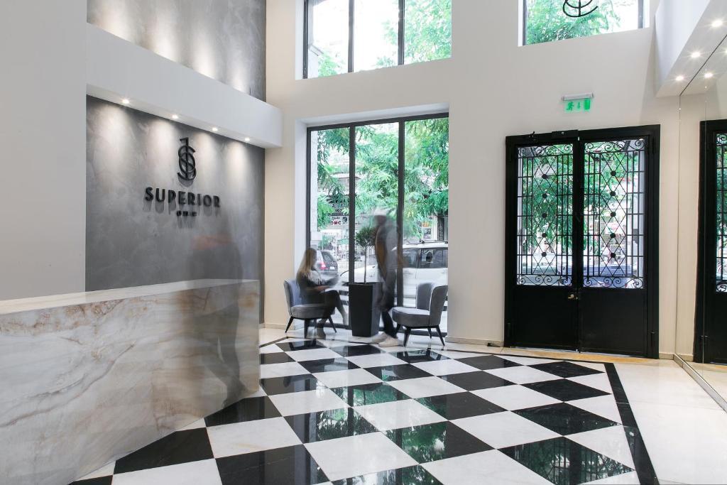 Ο χώρος του λόμπι ή της ρεσεψιόν στο Superior One Boutique Hotel