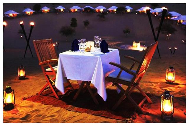 A restaurant or other place to eat at Sangram Desert camp