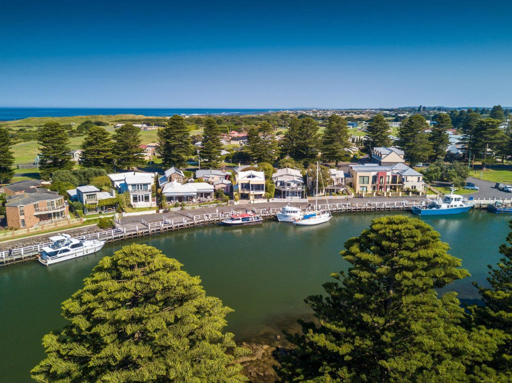 A bird's-eye view of Edge17 Port Fairy Wharf