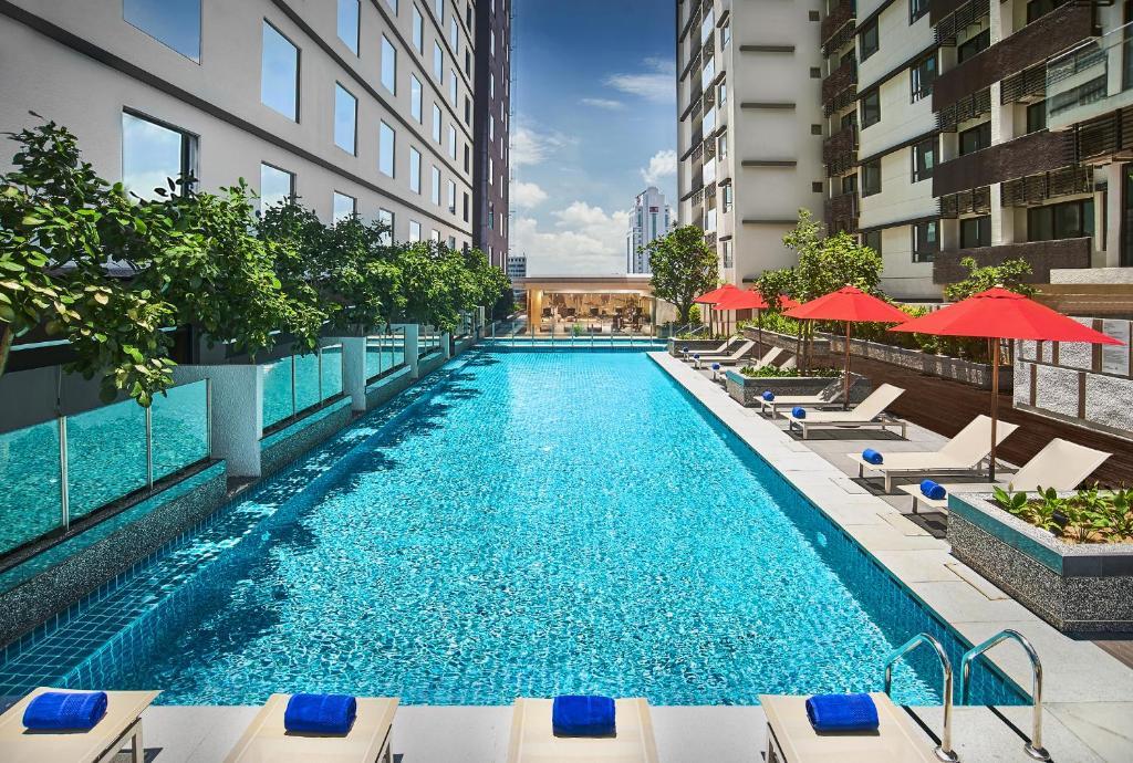 The swimming pool at or near Amari Johor Bahru