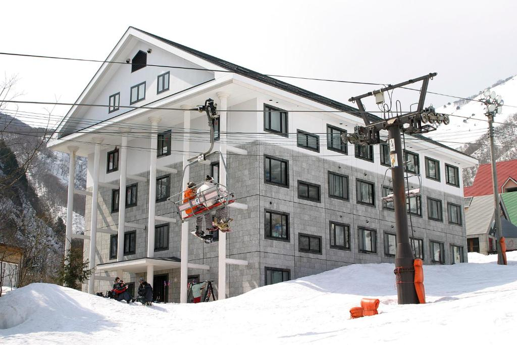 Condominium Hakuba Goryu during the winter