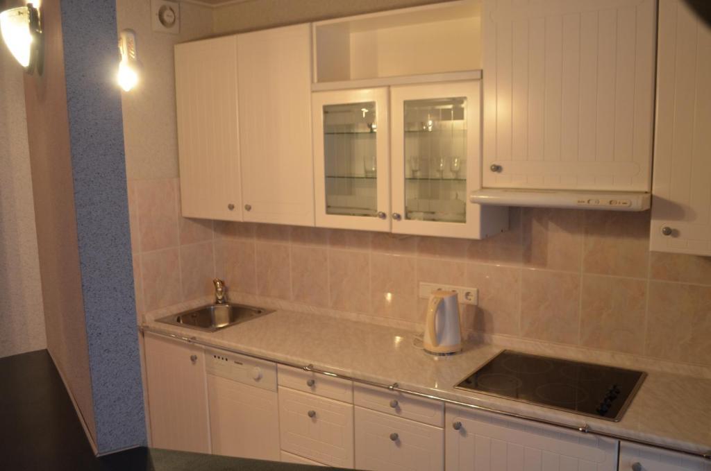 A kitchen or kitchenette at Hostel Vizit