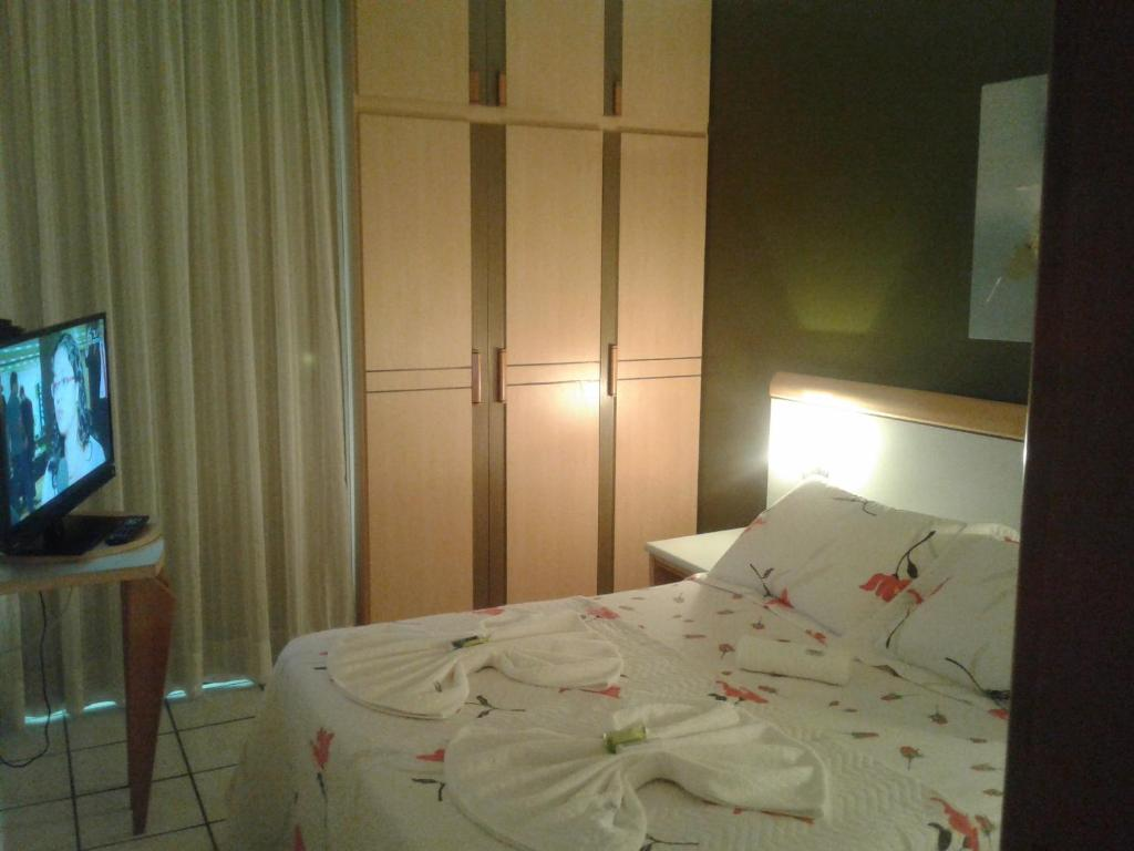 Voodi või voodid majutusasutuse Apart Quartier Latin toas