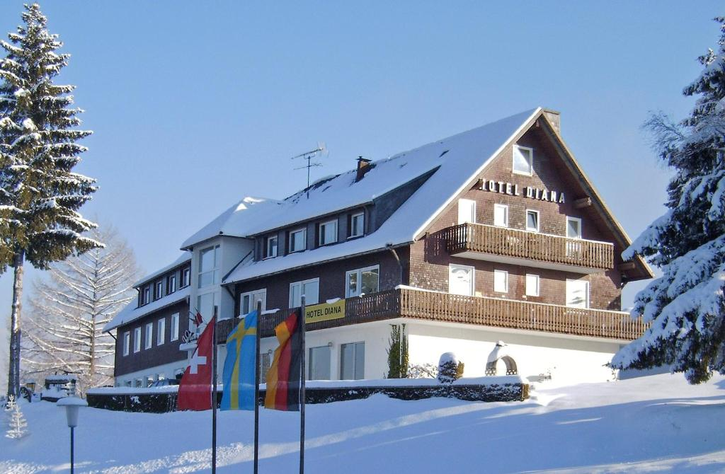 Hotel Diana during the winter