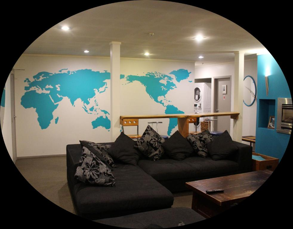 A seating area at Central Backpackers Dunedin