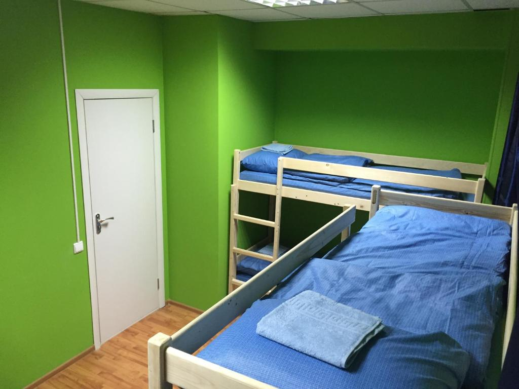A bunk bed or bunk beds in a room at Hostel Tochka