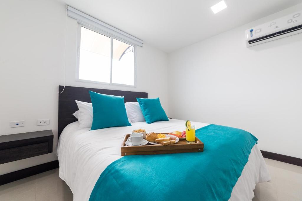 Cama o camas de una habitación en Hotel G Cartagena