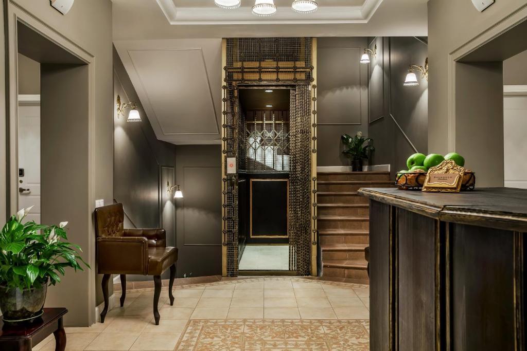 The lobby or reception area at Bulgakov Residence