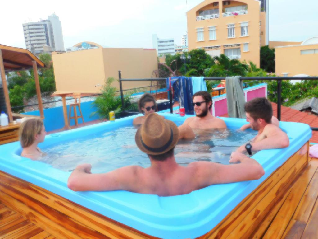 The swimming pool at or near Mama Waldy Hostel