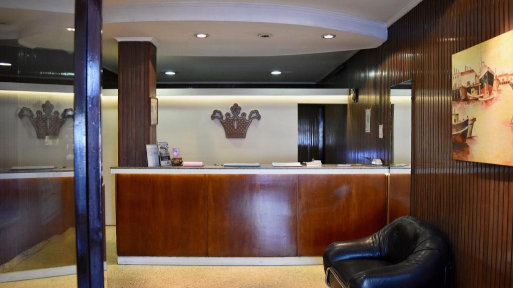 O saguão ou recepção de Hotel Avenida