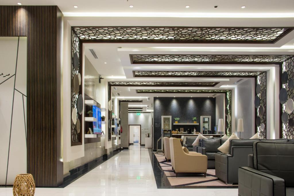 The lobby or reception area at Shatha Alrabi3 Hotel