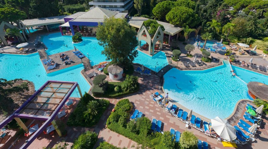 A view of the pool at Dionysos Hotel or nearby