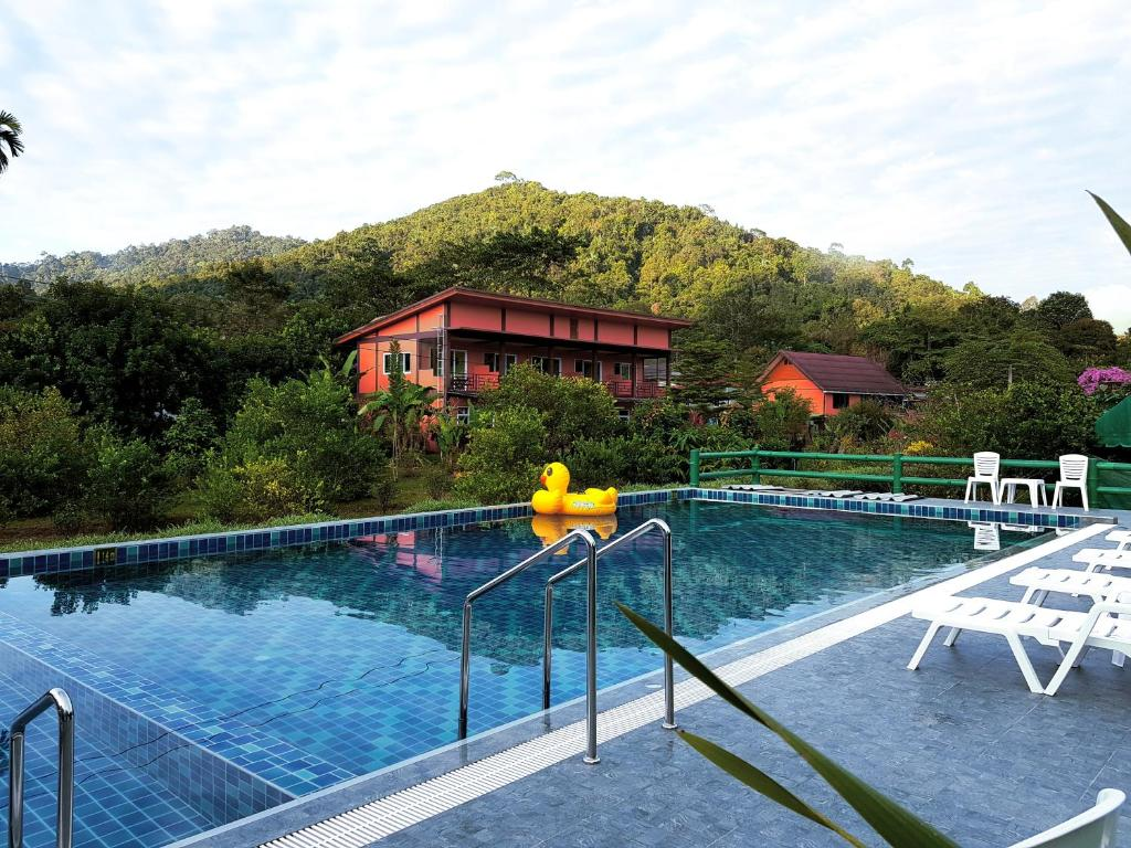 The swimming pool at or near Khao Sok Country Resort