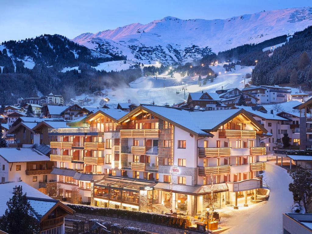 Hotel Tirol Fiss during the winter