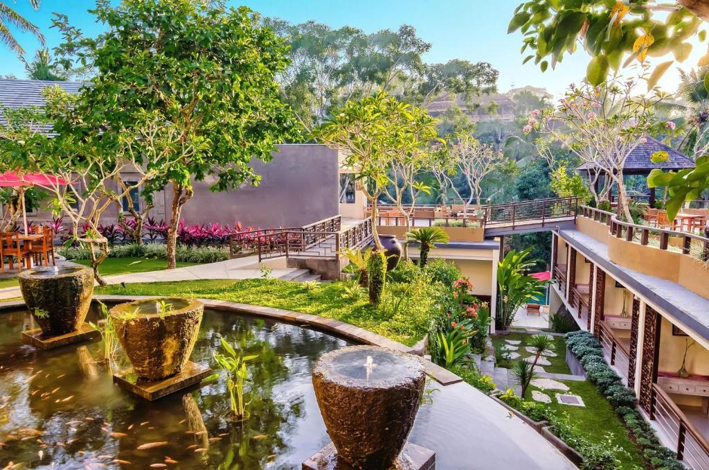 A balcony or terrace at Labak River Hotel