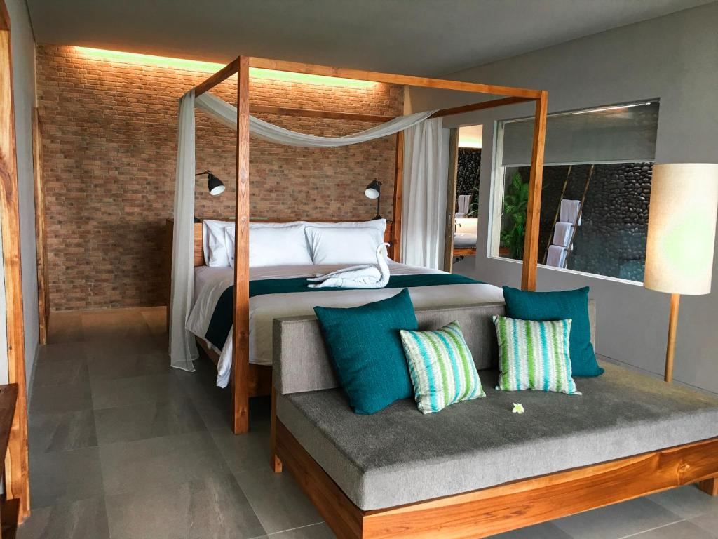A seating area at Umadewi Surf & Suites