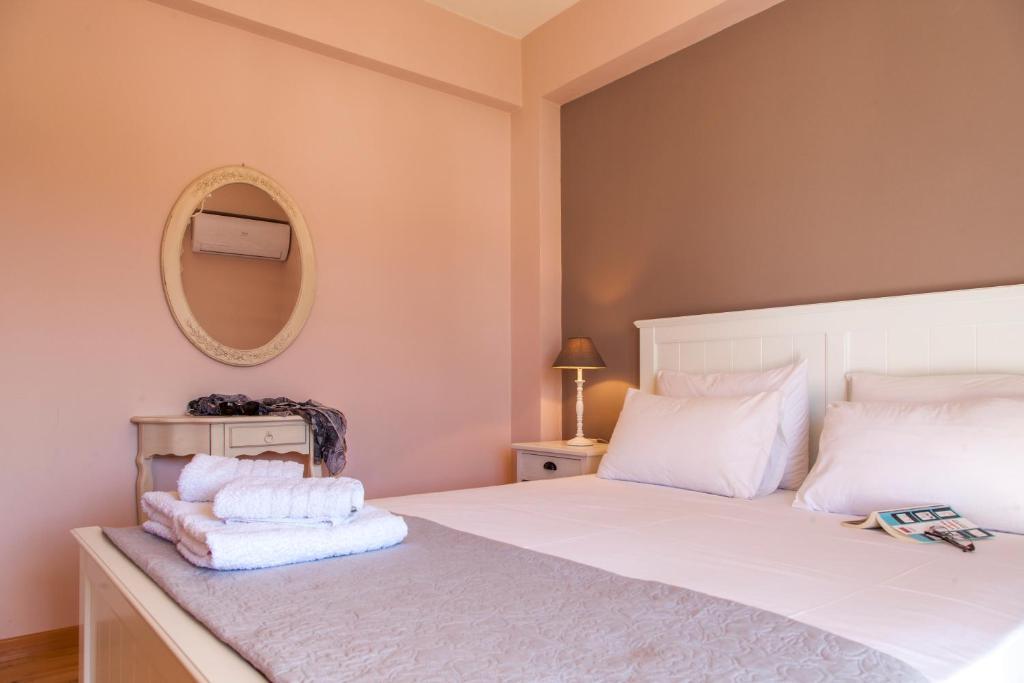 Кровать или кровати в номере Villa Levanda