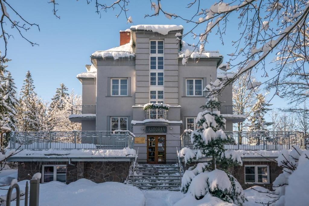 Astoria - Willa Literatów during the winter