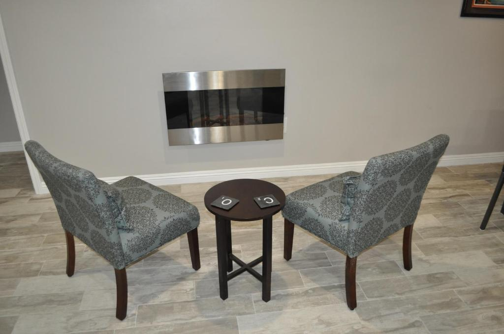 A television and/or entertainment center at Condo near beach and Convention Center