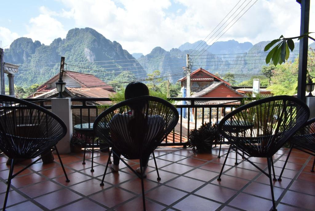 A balcony or terrace at Nice view guesthouse