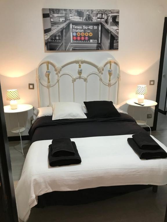 Cama o camas de una habitación en Alojamiento El Cantal
