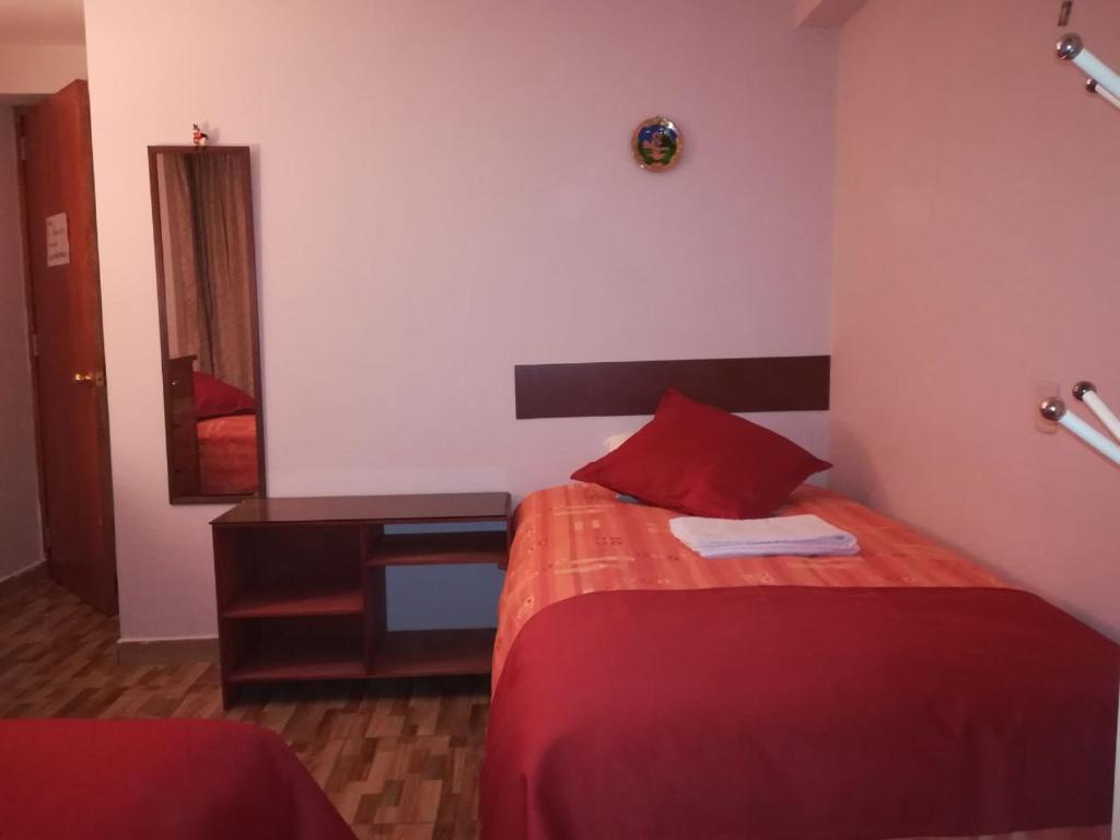 Cama o camas de una habitación en Radiante Flat Urpicha