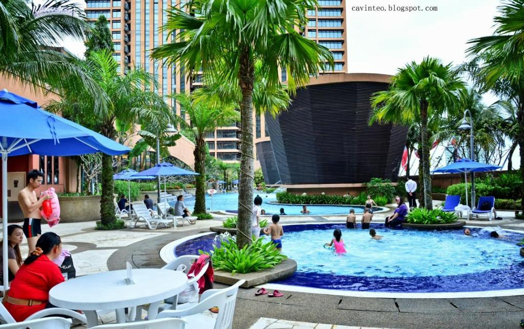The swimming pool at or near Bukit Bintang Suite At Times Square