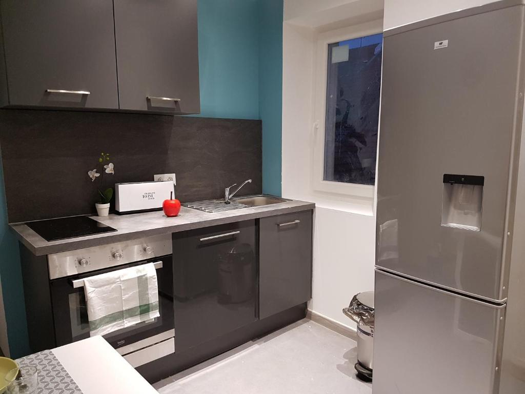A kitchen or kitchenette at Appartements Centre ville