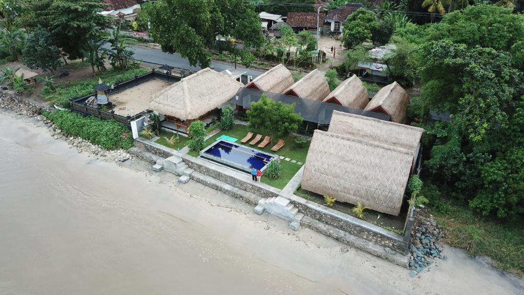 A bird's-eye view of Krisna Bungalows and Restaurant