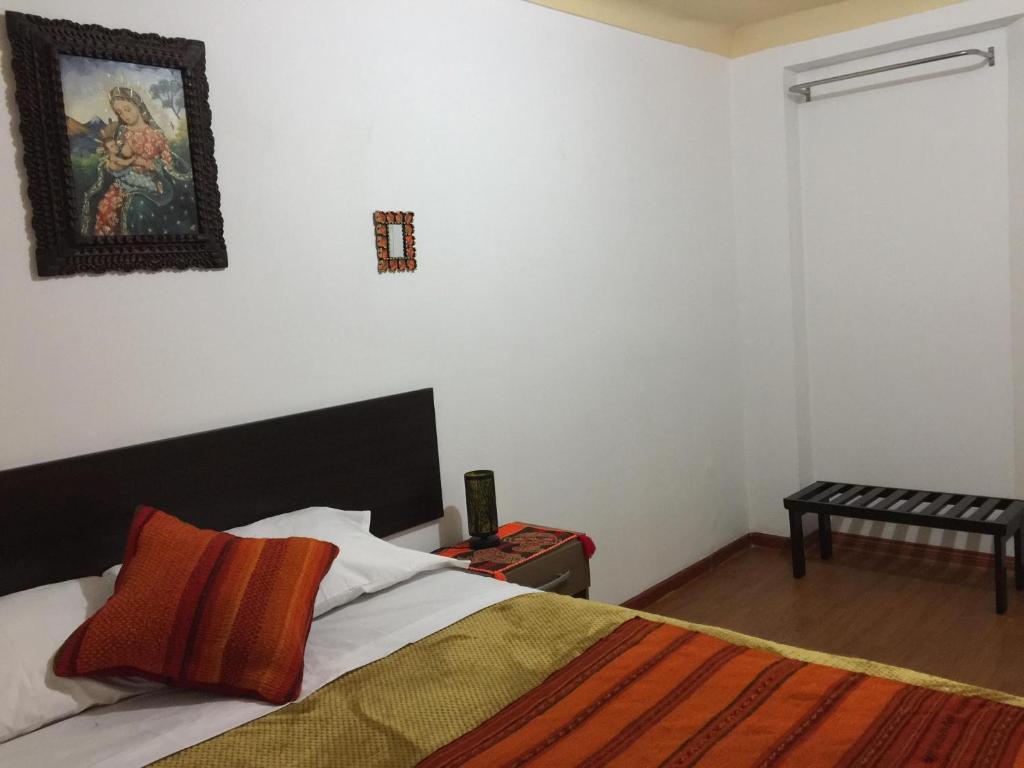 Cama o camas de una habitación en Chaska House