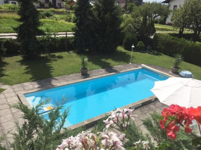 A view of the pool at Haus Christof or nearby