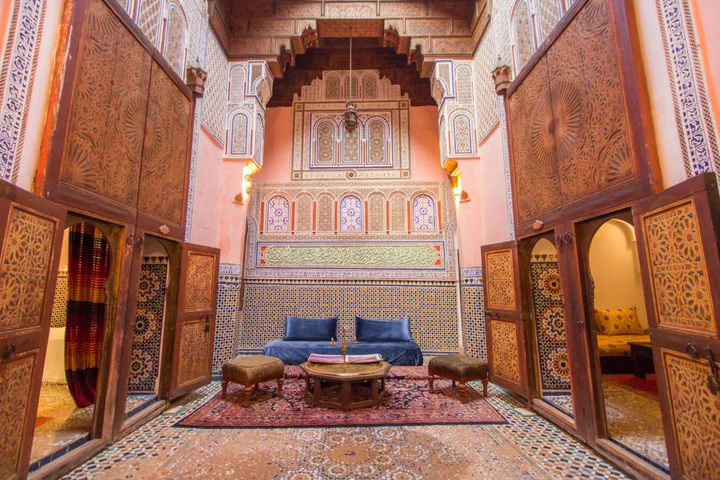 A seating area at Riad D'or