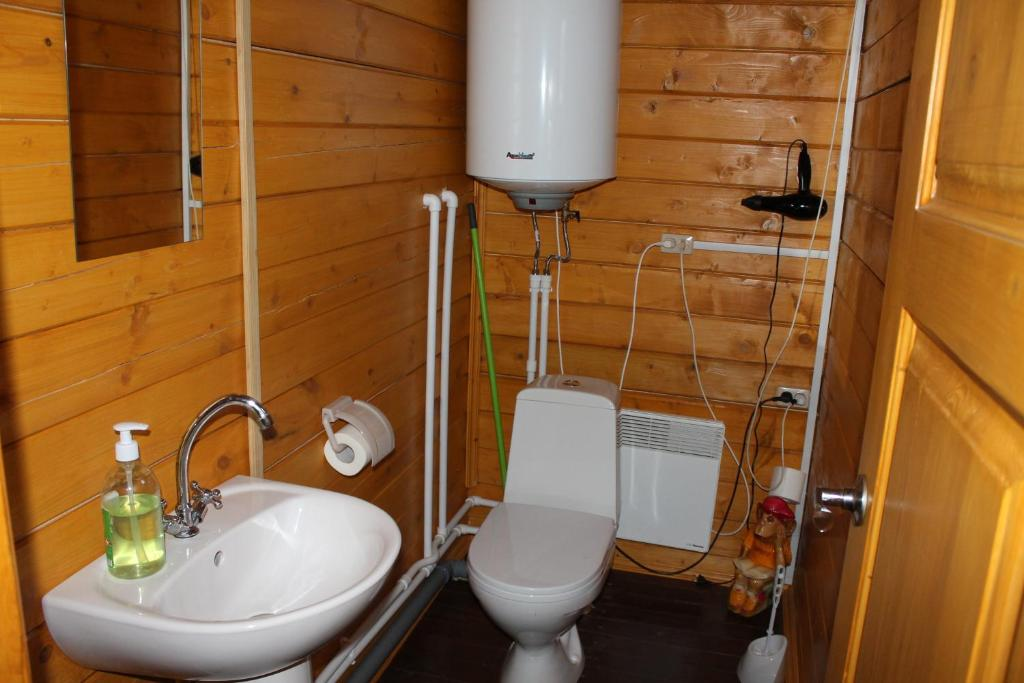 A bathroom at Guest House Belye Rosy