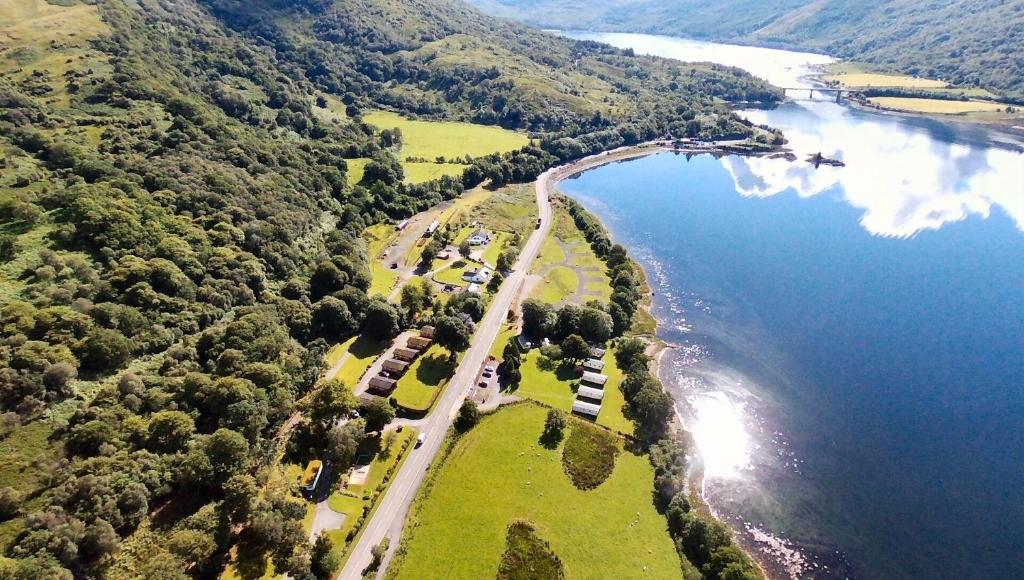 A bird's-eye view of Appin Holiday Homes